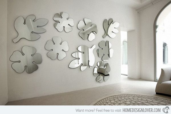 15 Fascinating and Exceptional Modern Mirror Designs | Living room ...
