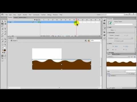Flash Motion Tween Looping Background Scene Part 1 Of 3