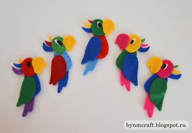 Попугай из пластиковых бутылок Фото Статьи