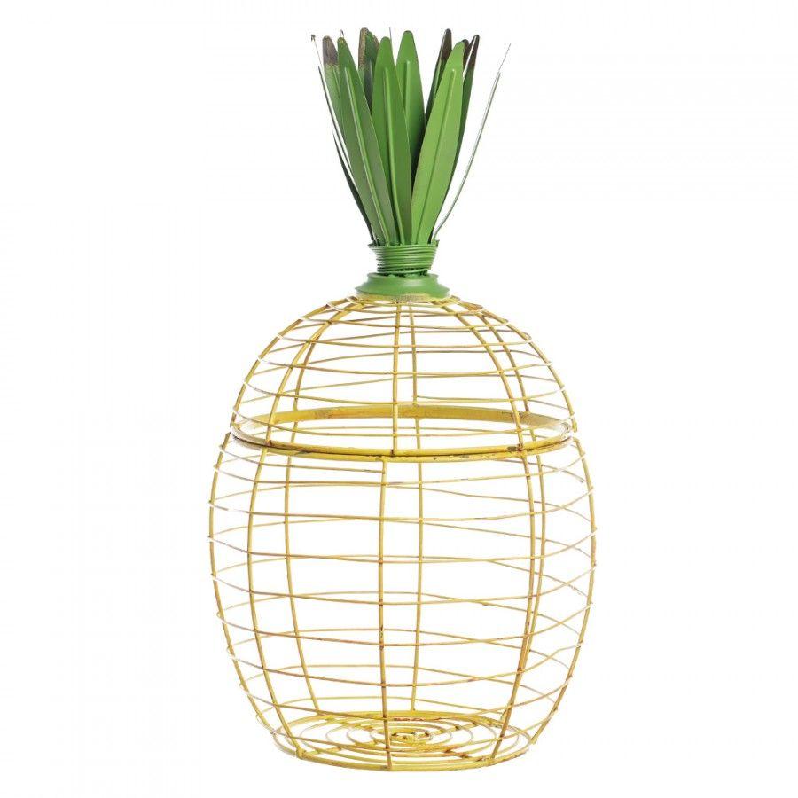 Korb Ananas-Form aus Metall - nicolemohrmann.com