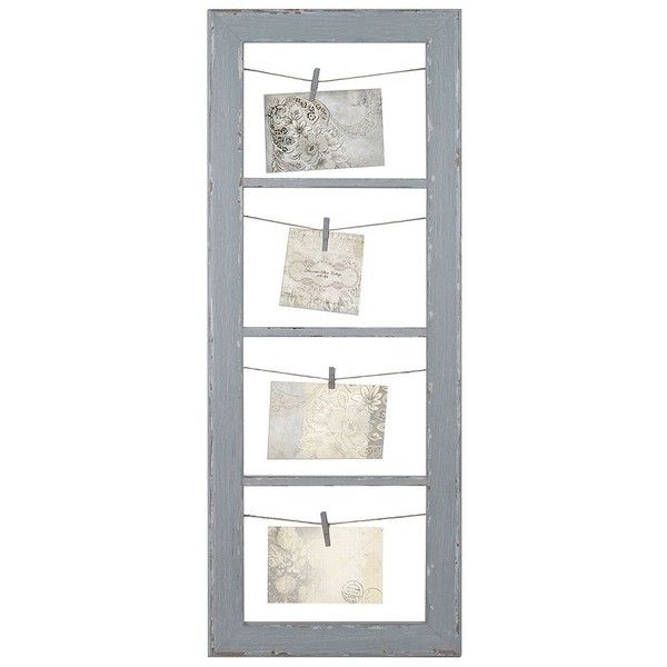 Belle Maison String and Clip 4-Tier Collage Frame ($50) ❤ liked on Polyvore featuring home, home decor, frames, grey, 4 opening picture frames, colored frames, belle maison frames, clip picture frames and gray home decor