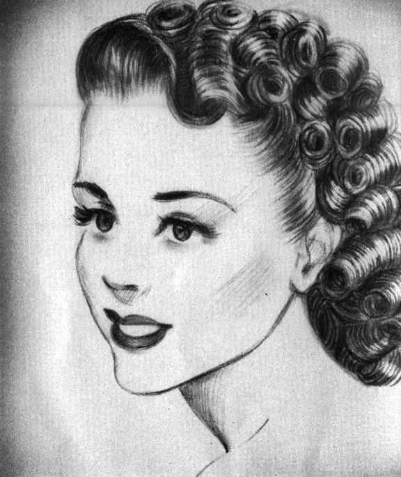 1940s+hairstyles | how-to 1940\'s hairstyles, wwii reenacting ...