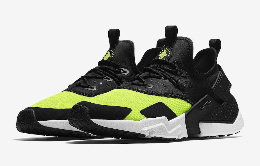 Official Images: Nike Air Huarache Drift Black Volt