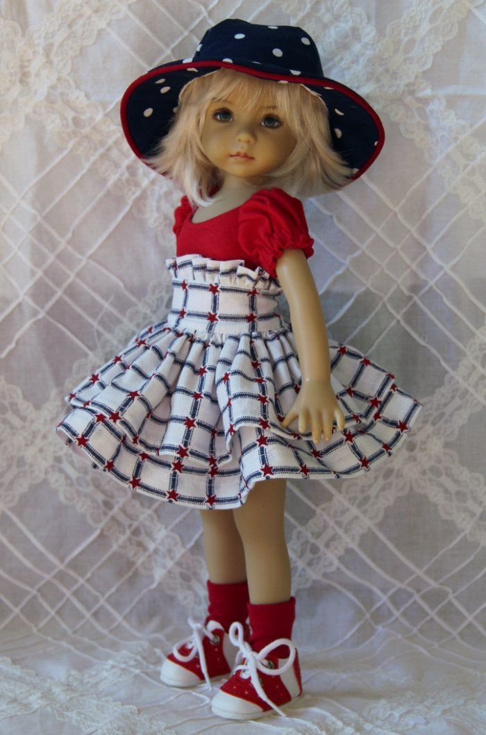 "Little Patriot ~ OOAK Outfit for Effner 13"" Little Darling ~ by Glorias Garden"