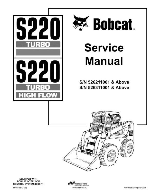 Bobcat S220 Turbo, S220 Turbo High Flow Skid-Steer Loader