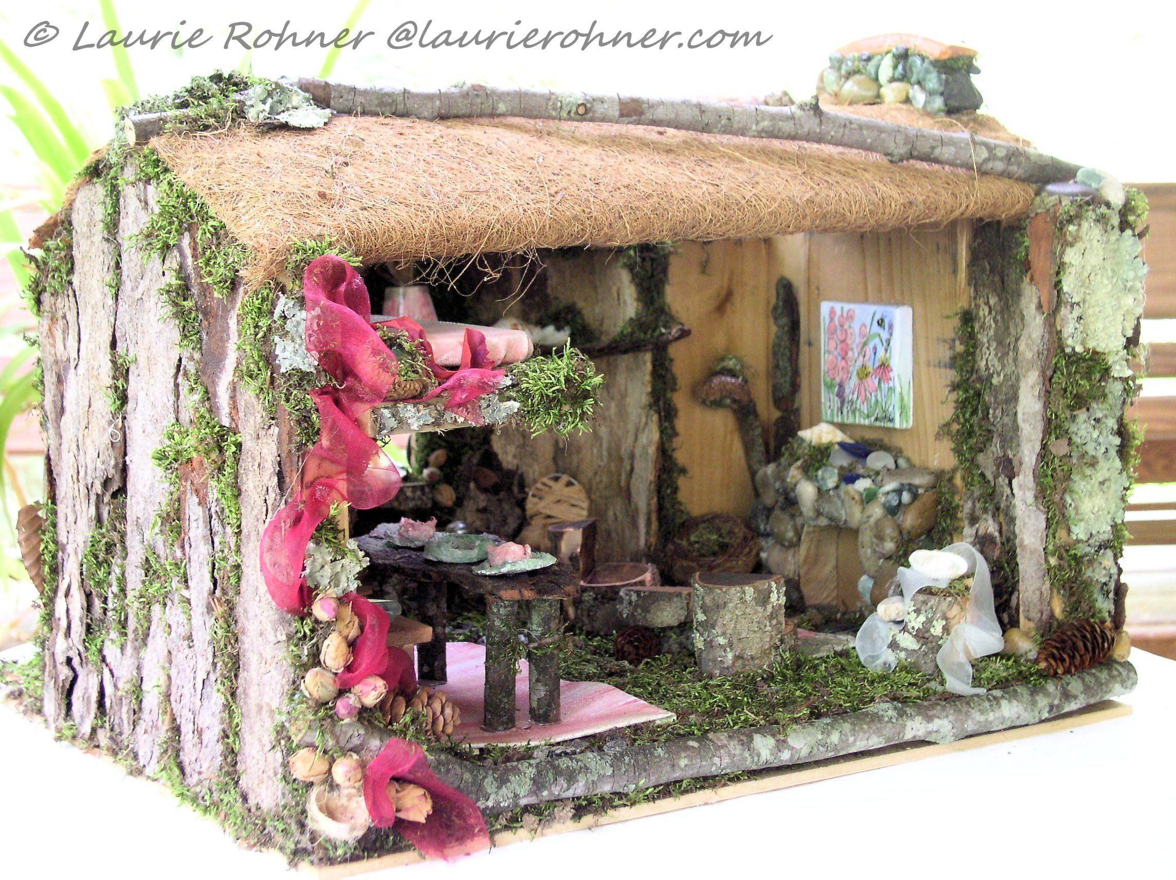 Custom Enchanted Wood Fairy House - Laurie Rohner Studio