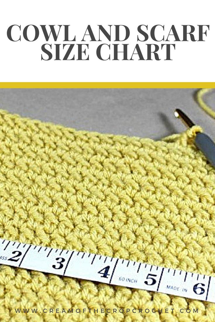 Crochet Tutorial Cowl And Scarf Size Chart You Ll Never Know When You Ll Need This Conversion C Crochet Tutorial Crochet Flower Patterns Crochet Instructions
