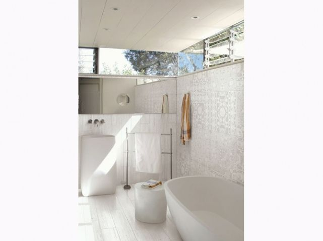 Carrelage blanc salle de bains | Salle de bains - Bathroom ...