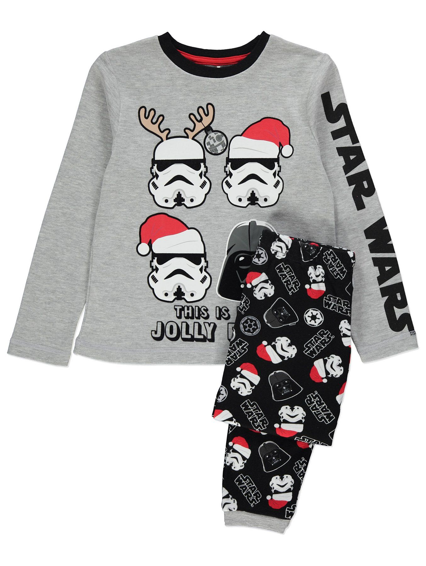 Star Wars Grey Christmas Pyjamas Kids