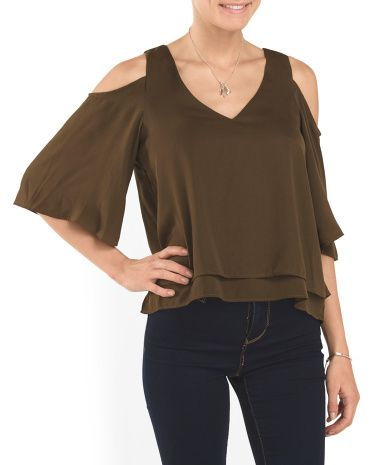 Juniors+Cold+Shoulder+Top