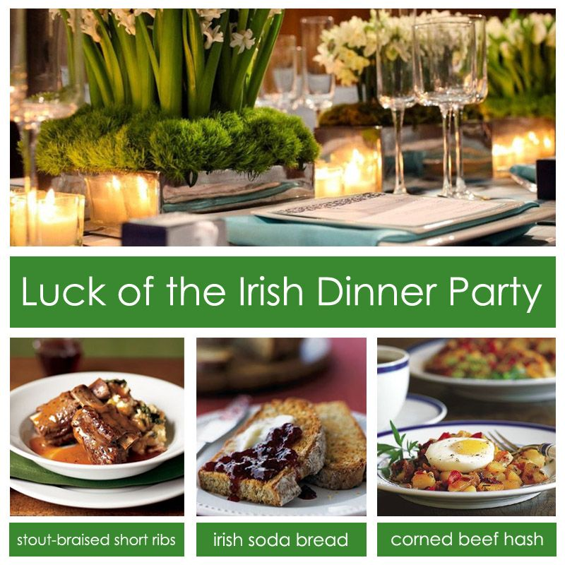 Ideas For Dinner Party Food Part - 47: Luck Of The Irish Dinner Party From DivinePartyConcepts.com~ Enjoy~