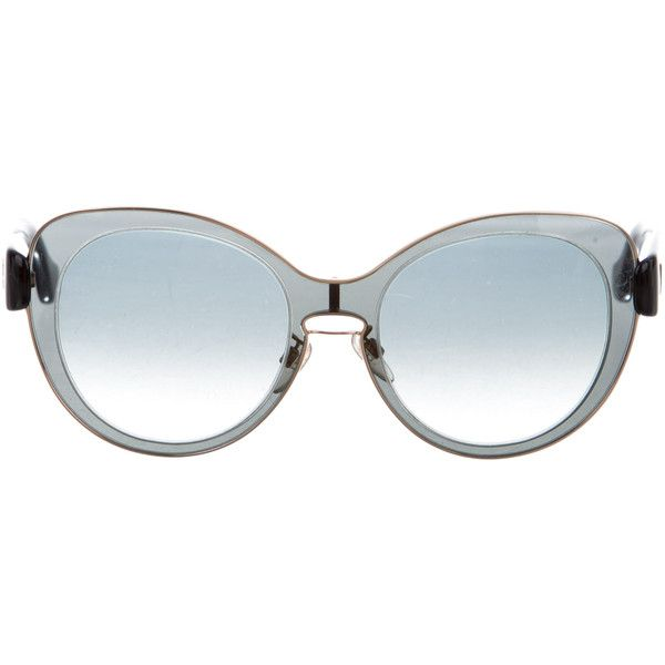 5add59e7abe Pre-owned Balenciaga Oversize Cat-Eye Sunglasses ( 145) ❤ liked on Polyvore  featuring accessories