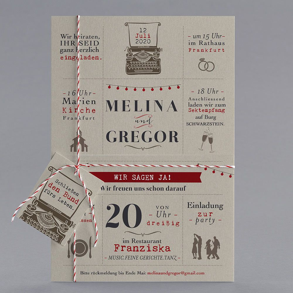 #Letterpress #Hochzeitskarten #kreativehochzeitskarten #einladungskarten  Valse Musette M20 028 3 Teilige