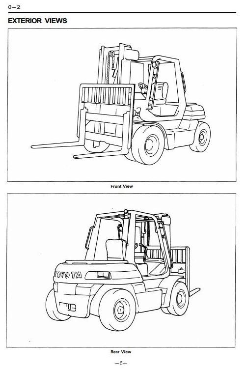 Toyota Forklift Truck Type 5fd50 5fd60 5fd70 5fd80 5fg50 5fg60. Original Illustrated Factory Workshop Service Manual For Toyota Icengined Forklift Truck Type 5fg 5fdoriginal Manuals Bt Forclift. Toyota. Toyota Forklift 42 6fgcu25 Wiring Diagram At Scoala.co