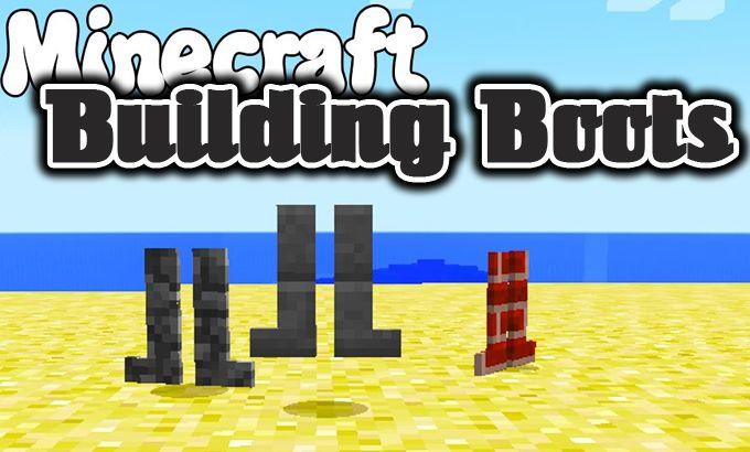 Building Boots Mod Minecraft Minecraft Mods Minecraft Building