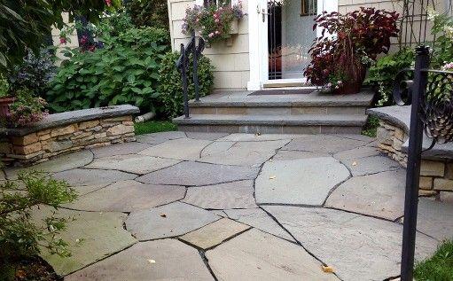 english stone flagstone patio patio