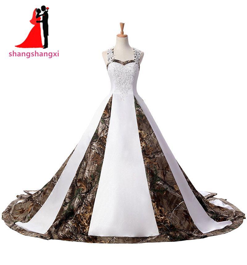Stunning Plus Size Long White Camouflage Wedding Dresses 2017 Hot ...
