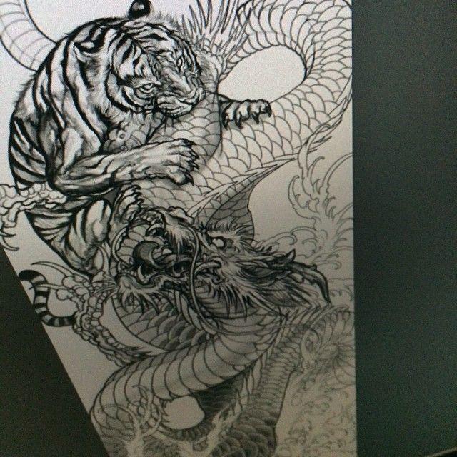 Tiger And Dragon Tiger Tattoo Tiger Tattoo Sleeve Dragon Tiger Tattoo