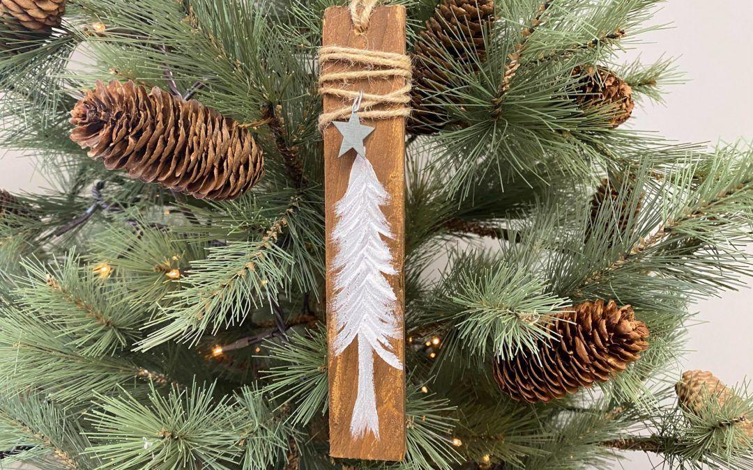 DIY wooden Shim Tree Ornament - The Shabby Tree