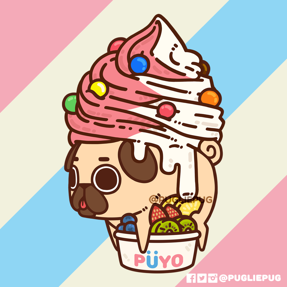 Puglie Pug Cute Dog Drawing Cute Cartoon Wallpapers Cute Kawaii Drawings
