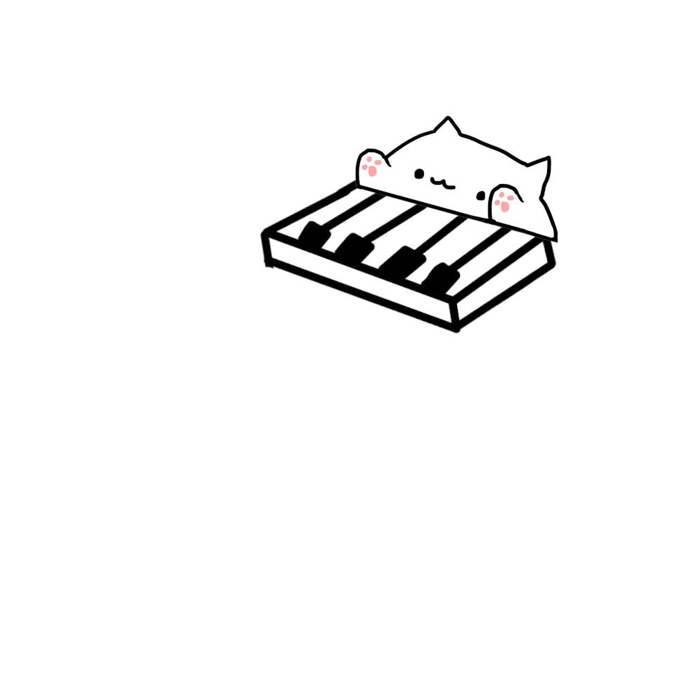 Dance Till Bongo Cat Die Cute Images Cat Pin Kawaii Cute