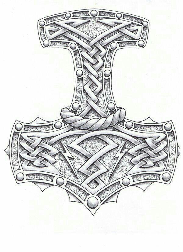 Mjolnir Thor S Hammer Wikinger Tattoo Symbole Wikinger Tattoo Wikinger Tattoos