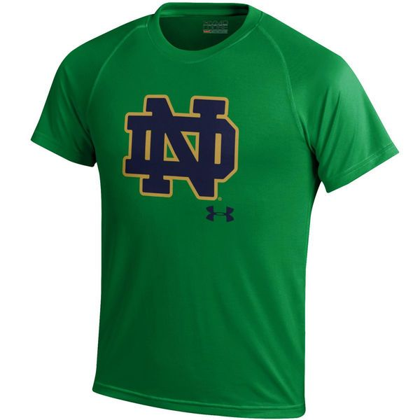 Notre Dame Fighting Irish Under Armour Youth Nu Tech Performance T-Shirt - Green - $26.99