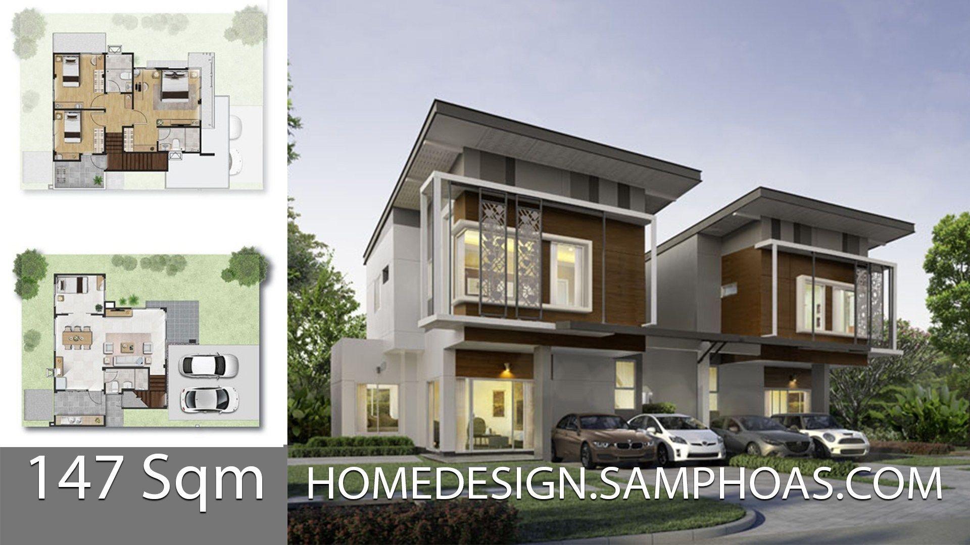 147 Sqm 3 Bedrooms Home Design Idea House Design House Plan Gallery Home Design Plans