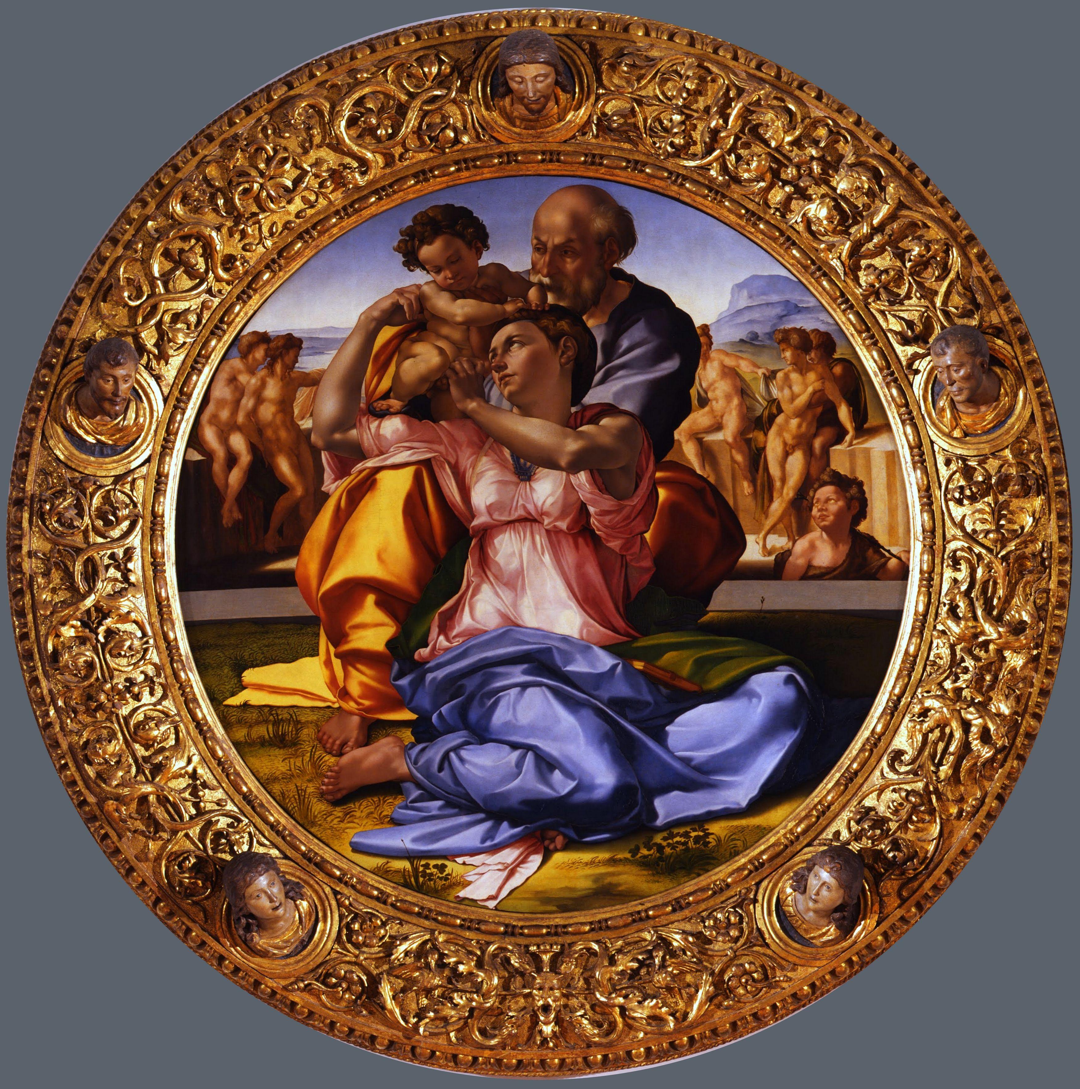 Sagrada Familia Tondo Doni Miguel ángel Hacia 1503 Miguel Angel Buonarroti Miguel Angel Buonarotti Capilla Sixtina
