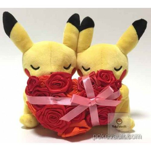 pokemon center 2017 monthly pair pikachu valentine's day plush toy, Ideas