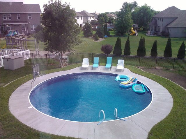 pool ladder buried above ground pools