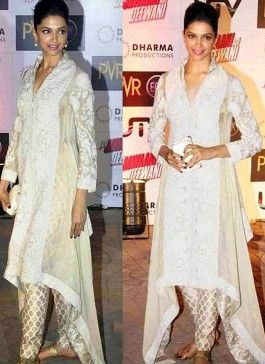 Deepika Padukone Suit At Yeh Jawaani Hai Premiere | Indian ...