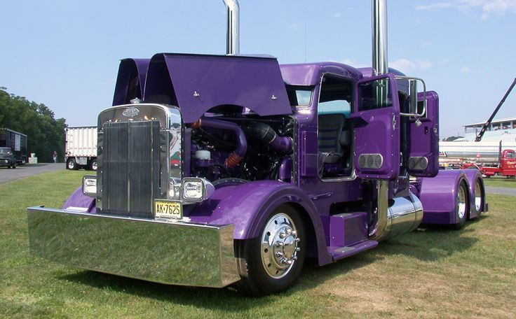 Custom Purple Chromed Out Semi Learn How To Find The Best Truck Driving Schools In