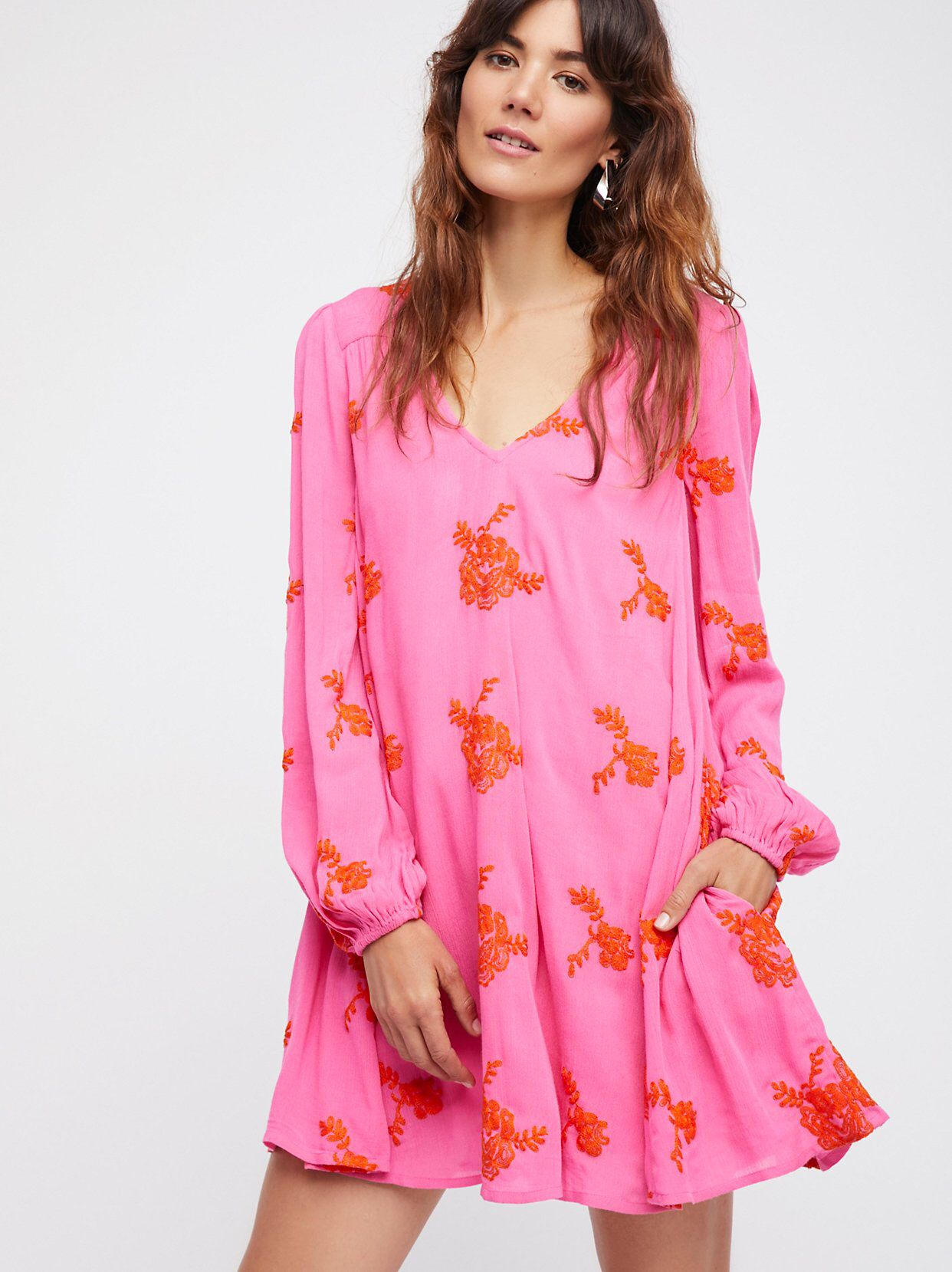 Free People Embroidered Austin Dress | Pintas, Femenino y Rosas