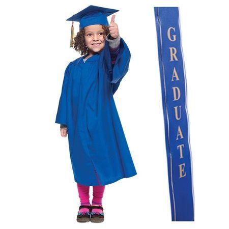 Matte Grad Set With 2020 Graduation Ribbon Sash Cap And Gown Graduation Gown Kids Graduation