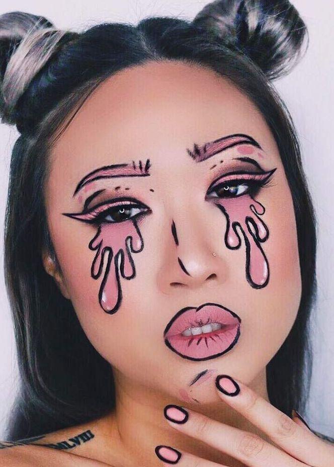 Wonderlijk 70+ Cute Halloween Makeup Ideas   Halloween make, Make-upideeën GR-56