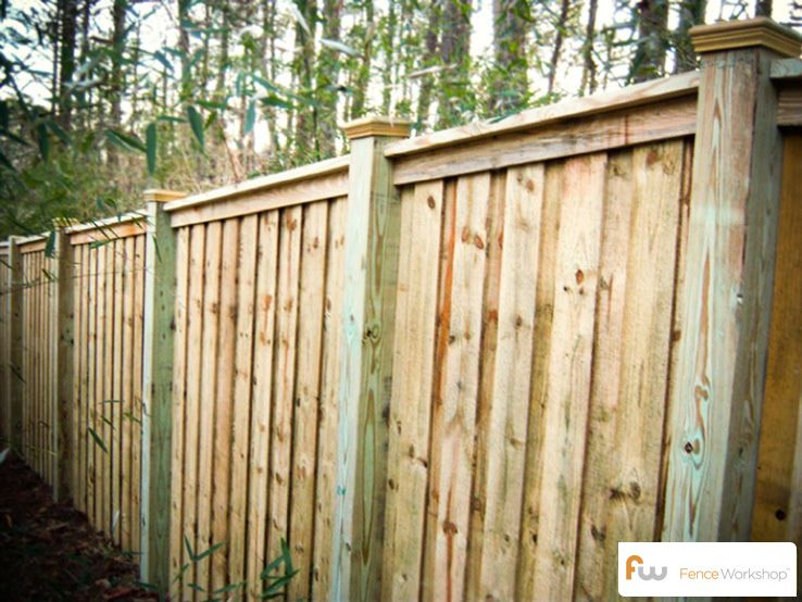 The Mcworter Wood Privacy Fence Pictures Per Foot Pricing For