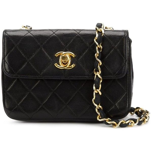 c8a6a0da6 Chanel Vintage extra mini flap crossbody bag ($3,390) ❤ liked on Polyvore  featuring bags, handbags, shoulder bags, black, crossbody shoulder bags, ...