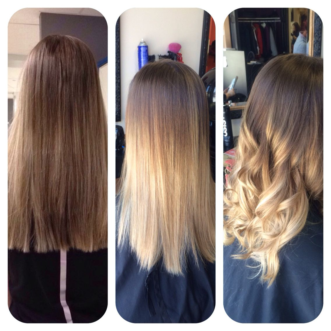 Before and After! Beautiful Ombre !