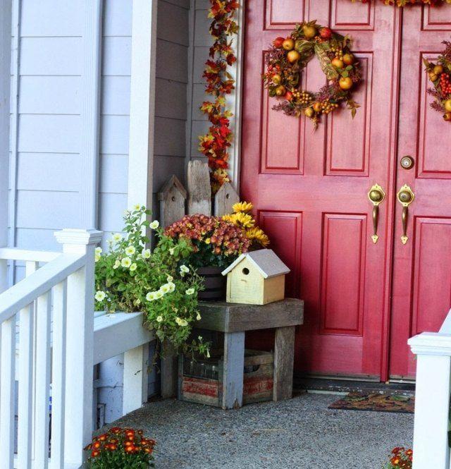 herbst deko drau en haus eingang t rkranz fr chte autumn pinterest eingang herbst und. Black Bedroom Furniture Sets. Home Design Ideas