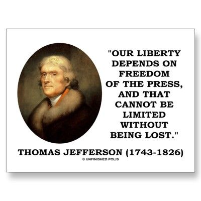Freedom Of Press Quotes Quotes About Freedom Of Press  History First Amendment Rights