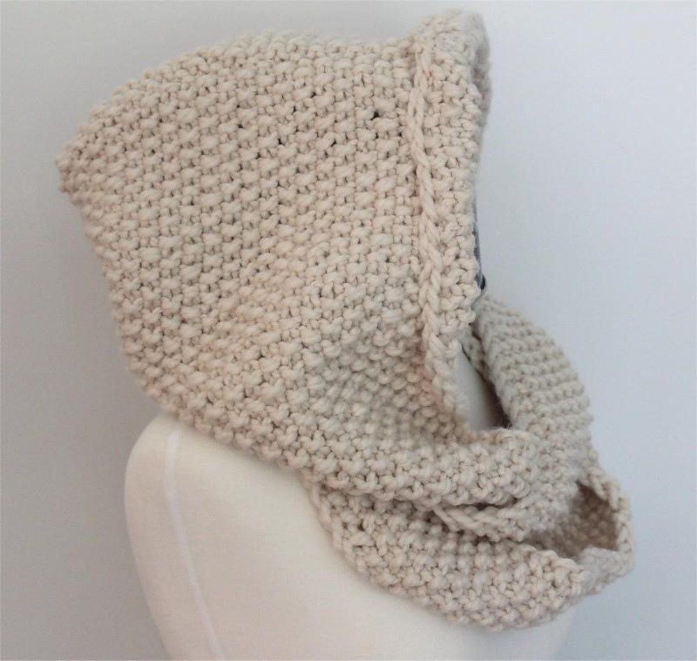 Hooded Infinity Scarf | Stockinette, Gauges and Infinity scarf ...