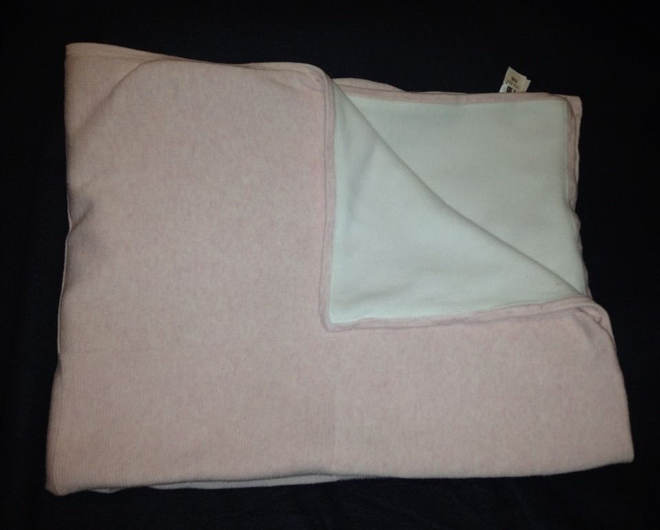 Mothercare Pink White Knit Fleece Security Blanket Comforter