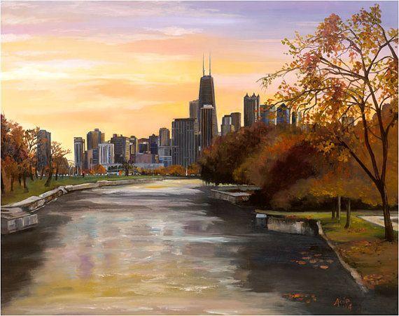 29 Best Chicago Cityscape Art Ideas Chicago Cityscape Cityscape Chicago Cityscape Art