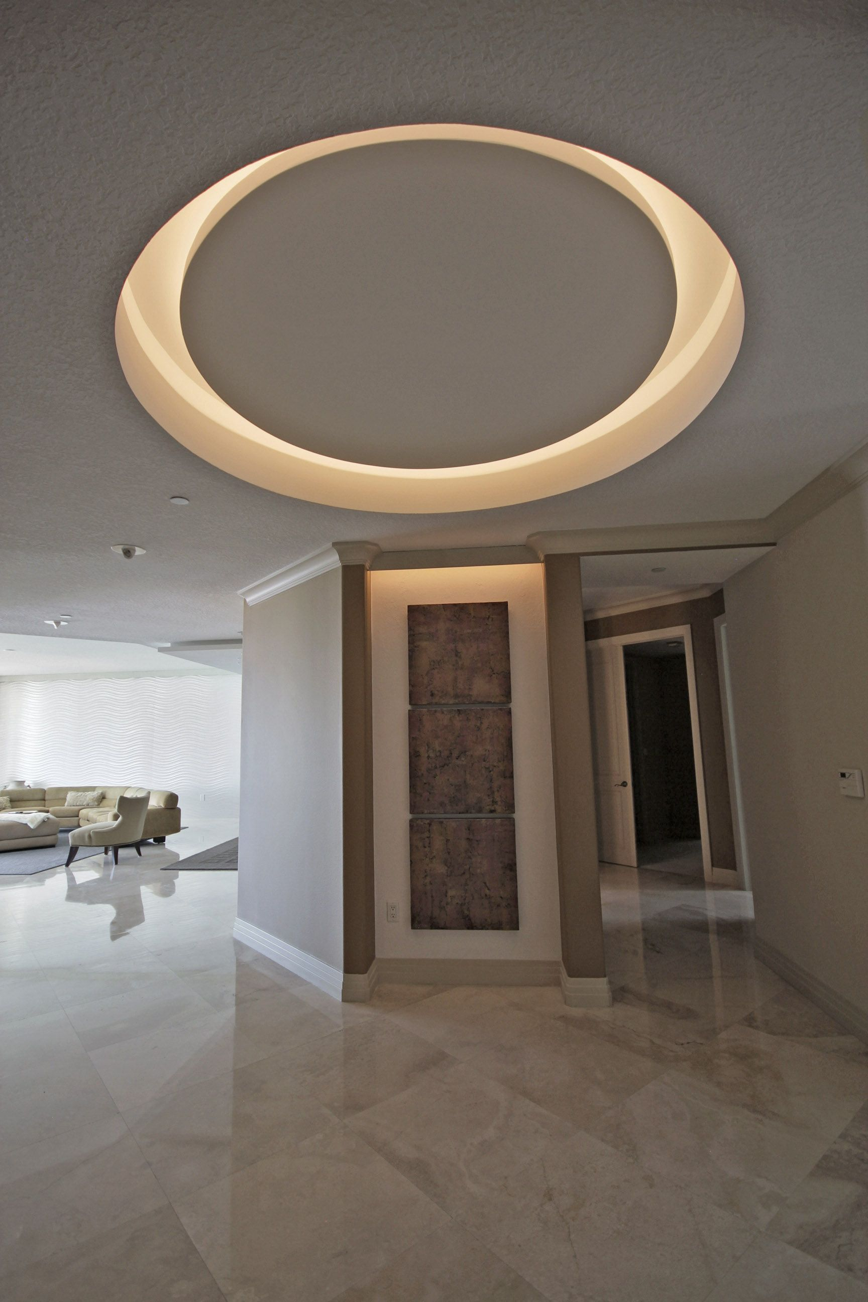 living room recessed lighting yellow paint ideas for circle with led lights | moonstone deets ...