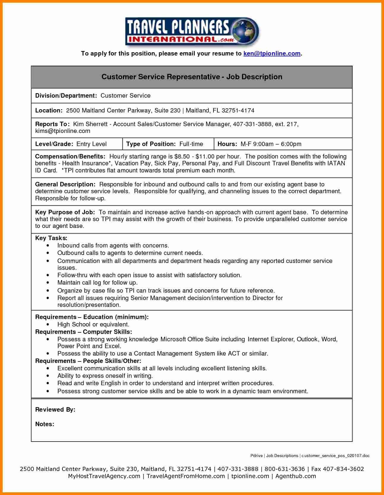 20 Insurance Customer Service Resume In 2020 Job Description Resume