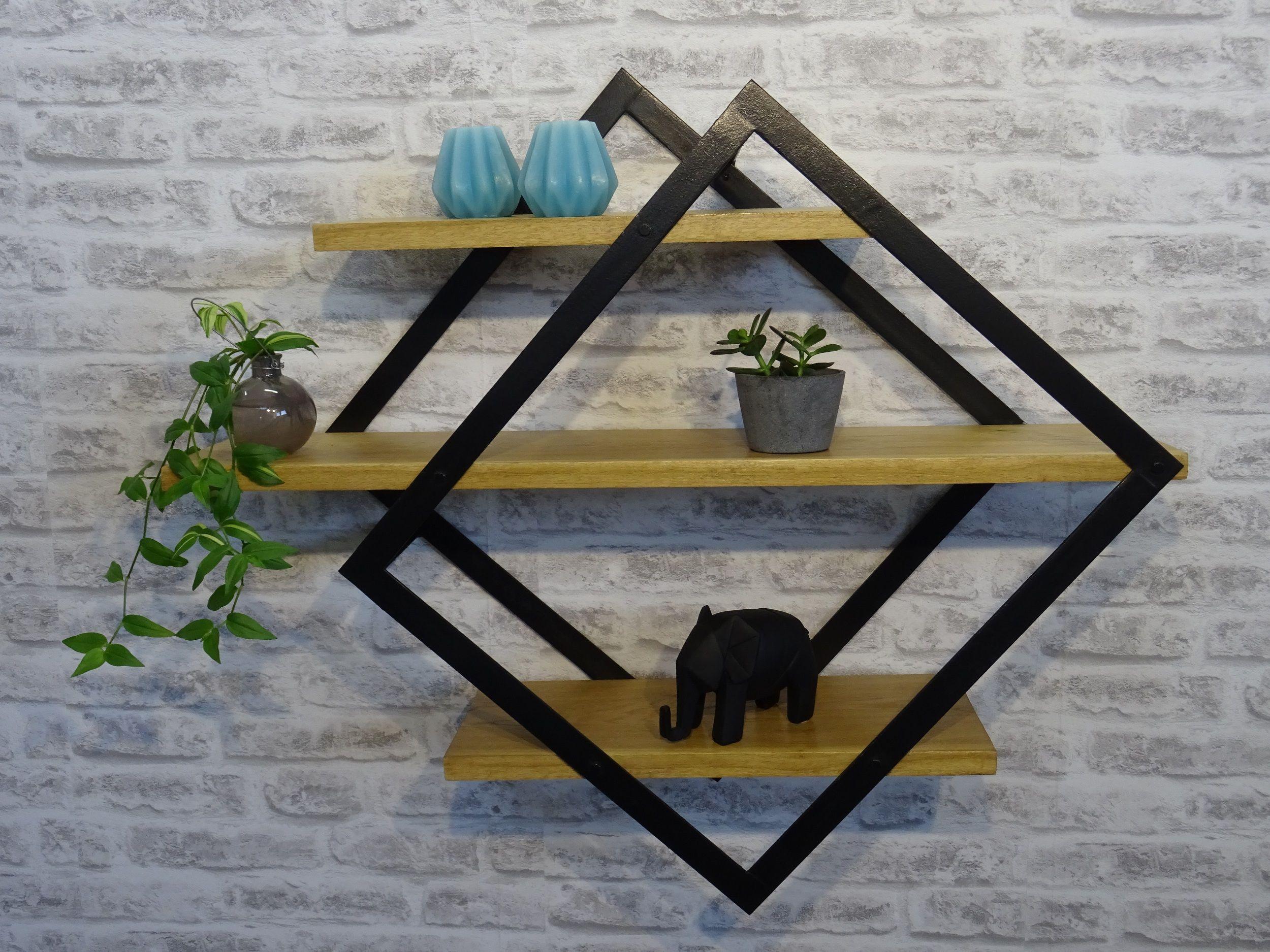 etagere murale bois 50 cm