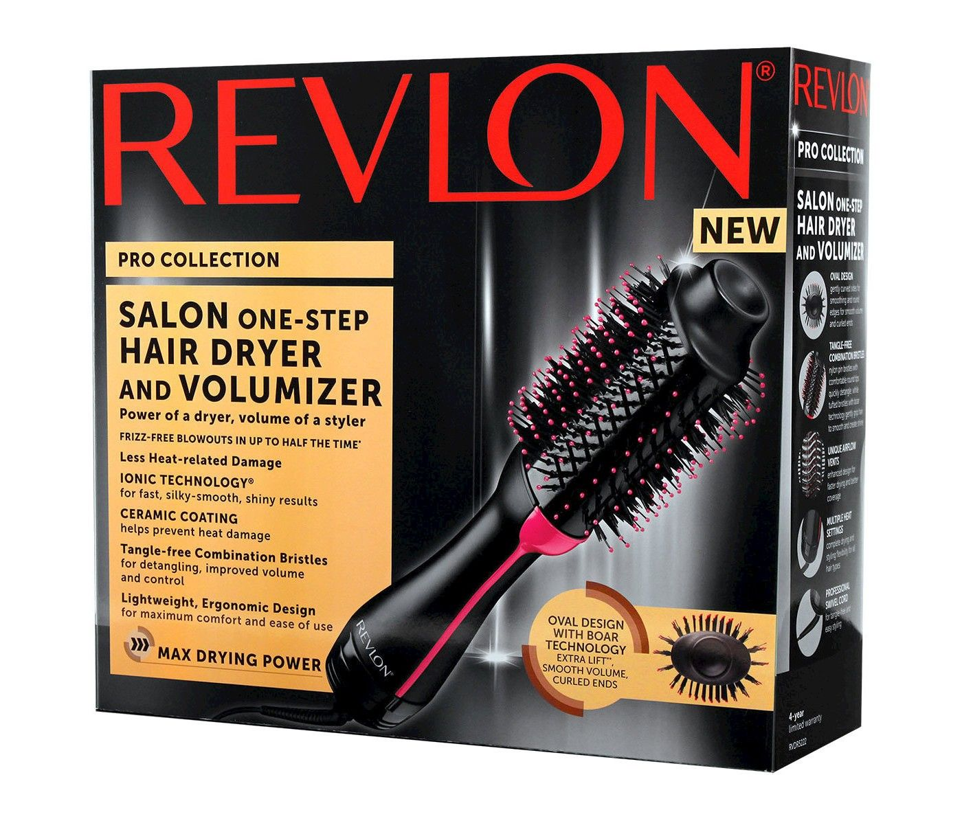 Revlon Salon OneStep Hair Dryer and Volumizer Black