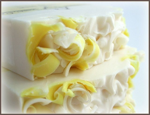 Yellow soap with topping by Abbey James