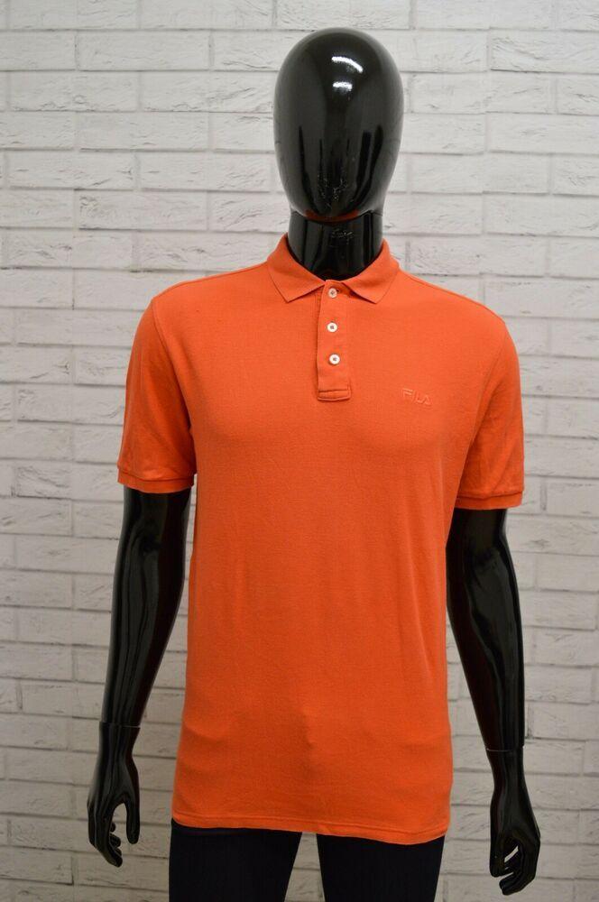Polo FILA Uomo Taglia Size L Maglia Camicia Shirt Cotone ...